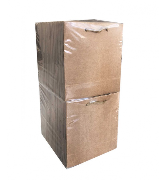 Çanta Karton Minik Boy Kraft 11x11 cm Naturel